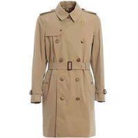 SS Solid color Men's Trench Coats spring and autumn winter classic fashion medium length windbreaker large size coat