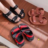 Summers Canvas Sandal Boys Girls Solid Color Soft Soled Anti-Slip Children Kids Shoes Summer Beach Sandals