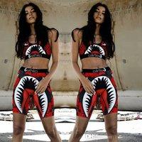 Designer Ethika Women Swimwear Swimsuit Sports Bra + Shorts Trunks 2 Piece Desinger Tracksuit Quick Dry Beachwear Shark Bikini Set Clothes DHL XS-XL