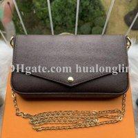 Women Messenger Bag purse handbag shoulder original box 3 in 1 high quality with serial number date code flower grid checkers