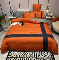 Bedding Sets Cotton Strip Printed Queen Size European Style Pillow Cases Sheet Soft Quilt Duvet Comforter Cover