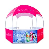 Portable Dome Kiosk Tent Advertising Display Booth with Custom Full Color Printing