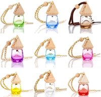car scents wholesale 2021 - Car Hanging Perfume Pendant Fragrance Air Freshener Empty Glass Bottle For Essential Oils Diffuser Automobiles Ornaments 9 Colors 8U24