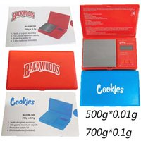 Cookies Backwoods Digital Smoking Scales 500g 0.01g 700g 0.1g Tobacco Stash Weight Vapes Measurement Flip Style Measure Kit Other Smoke Accessories