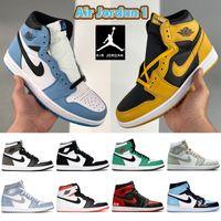 University Blue Air jordan 1 1s basketball Shoes Top 3 shadow 2.0 hyper royal dark mocha patent bred electro orange UNC men women sneakers