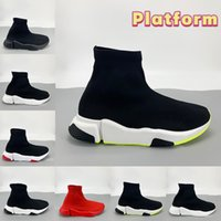 2021 Newset Fashion Paris casual sock shoes black white green triple red Top quality Luxury mens trainers women sneakers US 6-12