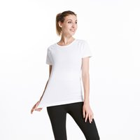 Women Yoga T-shirt Quick-dry Exercise Sports Fitness Tank Top Running Gym Jogging Tops