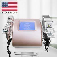 6 In 1 laser liposuction Ultrasonic Cavitation Slimming Machine Stock In US !!! Lipo Laser 40k Cellulite Radio Frequency Skin Tightening Beauty Equipment 5 Heads