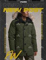 Mens Parkas Jacket Fur Hooded Top Down Coat Budge Size Windbreaker Warm Men Zipper Thick Jackets