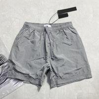Summer Mens Shorts Joggers Pants Male Designer Trousers Black Silver EU Size S-XL #90587 Reflective fabric Clothes