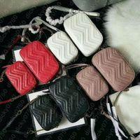 Dicky0750 cowhide handbags leather shoulder bags chain purse fashion handbag wave lady purses presbyopic card holder evening bag messenger women Wholesale