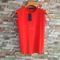 Famous Womens Designer T Shirts High Quality Summer Sleeveless Tees Women Clothing Top Short Sleeve Size S-XL