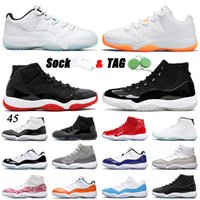 11 11s XI Basketball Shoes Low Legend Blue Citrus 2021 Top Quality Jumpman 25th Anniversary High Bred Concord Space Jam Trainers Sneakers 36-47