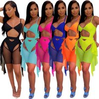 Women Bikini Summer Tracksuits Two Piece Shorts Set Swimwear Fashion Skinny Sexy Swimsuit Bathing Suits Beachwear Comfortable S-XXL 826