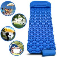 Outdoor TPU Mat Camp Inflatable Sleeping Self Inflated Pad Air Cushion Camping With Pillow Mattress X245D Bags