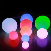 LED Lights Night Light 3D Magical Moon Spherical Lamps Moonlight Lantern Desk Evening Ball Lamp USB Rechargeable 16 Color Stepless for House Decoration