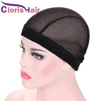 Big Hole Wig Caps For Making Wigs Stretchy Soft Crochet Dome Mesh Cap With Elastic Band Hairnets 5pcs lot Free Size 19-25inch