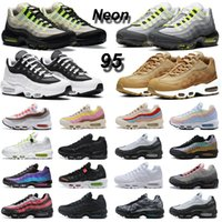 95 running shoes men women 95s Neon triple black white Wheat Greedy Cherry Blossom Clear Overlays Laser Fuchsia mens trainers outdoor sports sneakers