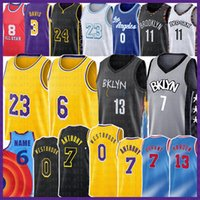 Los 23 6 Angeles 13 Harden 7 Kevin Kyrie 11 Durant Basketball Jersey Russell 0 Westbrook Irving Space Jam 2 8 Carmelo 7 Anthony 3 Davis Alex 72 Caruso Biggie Men Youth Kid
