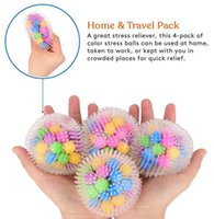 DNA Squish Stress Ball (4-Pack) Squeeze Color Sensory Toy - Relieve Tension Stress - Home Travel and Office Use FY9409