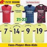 Arsen Soccer Jerseys Fans Player version Gunners 21 22 ØDEGAARD PEPE SAKA THOMAS WILLIAN NICOLAS TIERNEY 2021 2022 football shirt Men + Kids kit away yellow fourth 4th