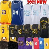 2021 Alex 4 Caruso Jersey Los Talen 5 Horton-Tucker Angeles Jerseys Anthony 3 Davis Kyle 0 Kuzma Basketball S-XXL Yellow Blue White Black