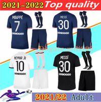 21 22 MESSI MBAPPE home soccer jerseys set 2021 2022 HAKIMI SERGIO RAMOS VERRATTI KIMPEMBE ICARDI WIJNALDUM away 3rd Maillots de men football shirt kits uniforms