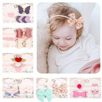 artificial handmade flowers 2021 - Free DHL INS 3Pcs set Baby Girl Bow Hair Accessories Bow-knot Headbands Newborn Kids Soft Elastic Infant Handmade Hairband Headdress Princes
