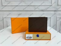 2021Top High quality designers wallets cardholder France Paris plaid style luxurys mens wallet designers women wallet high-end luxurys designers L wallet with box
