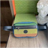Multicolor Rainbow Waist Bags Designer Men Women Chest Bag Luxury Messenger Handbags High Quality Classic Letter Wallet