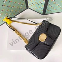 Top quality Genuine leather Marmont Women's men tote g crossbody Bags Luxury Designer woman fashion shopping wallet Camera Cases card pockets handbag Shoulder Bag