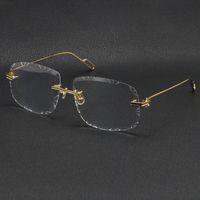Selling men women rimless gold metal Sunglasses frame Eyewear lunettes fashion classic glasses High quality eyeglasses frames male and female Multiple models
