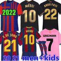 2022 soccer jersey BARCA 21 22 camiseta futbol ANSU FATI 2021 MESSI GRIEZMANN F.DE JONG Maillots de football shirt men kids kit Barcelona