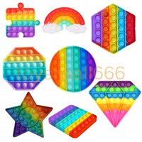 1pc Funny Rainbow Push Bubble Fidget Toy Antistress Sensory Stress Relief Squishy Toys For Adults Children Gifts 1PCS