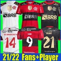Flamengo soccer jerseys Player version 2021 22 DIEGO E.RIBEIRO GABRIEL B. GABI football shirts MATHEUZINHO GERSON PEDRO DE ARRASCAETA jersey man women Camisa Mengo
