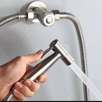 Double function switch toilet bidet faucet bathroom hand bidets sprayer set kit pressurize flush spray gun tank hook wall mount
