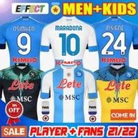 20 21 22 Napoli Marcelo X Burlon Soccer Jerseys Fourth Tribute to DIEGO Maradona camiseta INSIGNE MERTENS H.LOZANO 2021 2022 Thailand Naples Football Shirts Kits