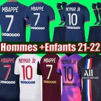 Tops MBAPPE KEAN soccer jersey 21 22 Maillots de football shirts 2021 2022 MARQUINHOS VERRATTI KIMPEMBE men + kids kit uniforms enfants maillot de foot fourth