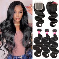 9A Brazilian Body Wave Hair Bundles With Closure Unprocessed Straight Deep Wave Remy Human Hair Extension Water Wave Virgin Hair With 4x4 Lace Closure