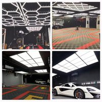Factory Customized Honeycomb Lamp Hexagon Working Light for Car Wash Room Workshop OEM