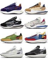 2021 Authentic Sacai VaporWaffle 2.0 LDV Shoes Sesame Dark Iris LDWaffle Black White Green Blue Red Trainers Men Women Outdoor Sports Sneakers Size US4-13