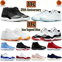 Newset 11 11s 25th Anniversary Basketball Shoes Men Women Sneakers low legend blue white bred concord pantone cap and gown mens Trainers