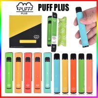 Puff Bar Plus Disposable Vape Pens Device Pods E Cigarettes Starter Kits 550mAh Vaporizer Pen Puffbar Portable Bars Prefilled pk Bang XXL Max Pod