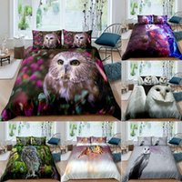 owl bedding set full 2021 - Textiles Owl Picture Bedding Set Queen 3D Cute Printed Duvet Cover Bedcloth 2 3pcs Home Textil Luxury High Quality Bedspread