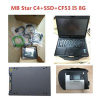Discount mb star sd connect c4 A++ Quality MB Star C4 SD Connect With Software 2021.12 SSD Laptop CF53 Work For Diagnosis Diagnostic-Tool Full Kit Diagnostic Tools