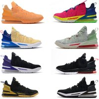 Discount threaded watches Mens 18 XVI Basketball Shoes 18s Sport Sneakers Youth Trainers Watch the Throne Martin Black Equality