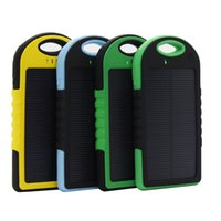 5000mAh 2 USB Port Solar Power Bank Charger External Backup Battery With Retail Box For Samsung Android Mobile Phone most devices