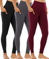 Yoga Pants with Pockets for Women High Waist Workout Pants Leggings for Women Gym designer Elastic Fitness Lady Overall Full Tights