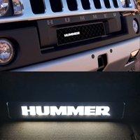 Badge Emblem DRL Day Running Light Hood Grill Grille Bonnet Led Logo Lamp For HUMMER H1 H2 H3