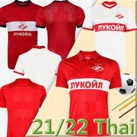 2021 2022 FC Spartak Moscow 4XL Soccer Jerseys Home Red PROMES Bakaev Zobnin Schürrle Dzhikiya Shirts Away White 21 22 MEN Football Uniforms THAI